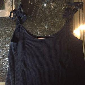 Zara Knit Top With Tie Straps